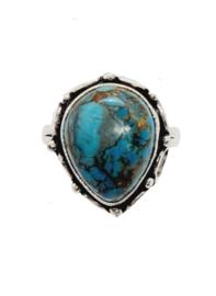 Zilveren Ring met Chrysocolla