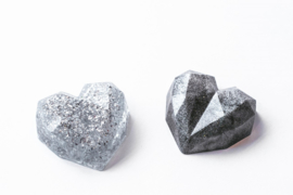 Resin Art Heart Deco Small Silver