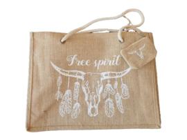 Beach Shopper Free Spirit White