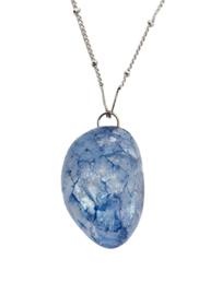 Blauwe Hyacint Kristal Ketting