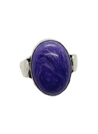 Zilveren Ring met Paarse Sugiliet
