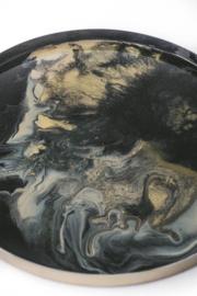 Resin Art Dienblad Luxury Gold