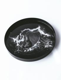 Resin Art Dienblad Zwart/Zilver