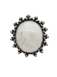 Zilveren Ring met Sri Lanka Maansteen Zon