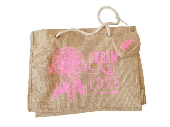 Beach Shopper Dream&Love Pink