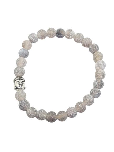 Agaat armband met Budha