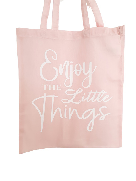 Enjoy The Little Things Bag Pink