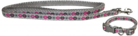 Little Rascals - Puppy halsband + lijn Roze
