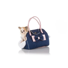 I Love My Dog - Denim EcoBag Pink Lak
