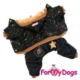 "ForMyDogs - jumpsuit, ""Stars Black/Brown"""
