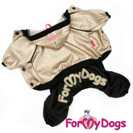 ForMyDogs - jumpsuit Gold /Black