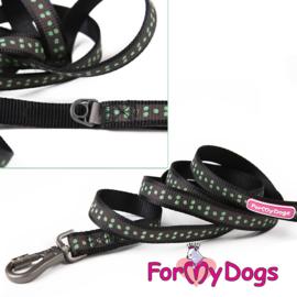ForMyDogs hondenlijn Active dogs - zwart retroreflectief