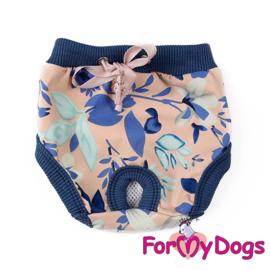 ForMyDogs loopsheidsbroekje - Lilies