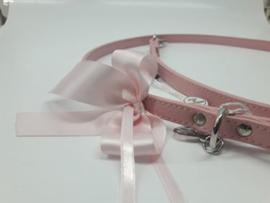 Trilly Tutti Brilli - Leer hondenlijn Roze + Strik