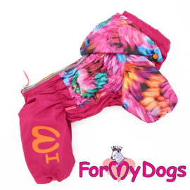 "ForMyDogs - Raincoat ""Flowers"" pink , Female"