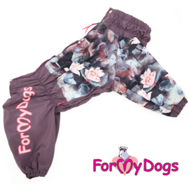 "ForMyDogs - Raincoat ""Lotos"" paars, Female"