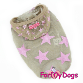 "ForMyDogs - T-shirt ""stars"" - beige"