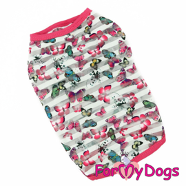 "ForMyDogs - T-shirt ""Butterflies"" - Pink"