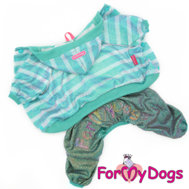 ForMyDogs - jumpsuit Green Stripes
