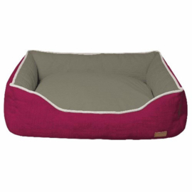 Croci - Rectangular Cozy Pet Bed Fuxia