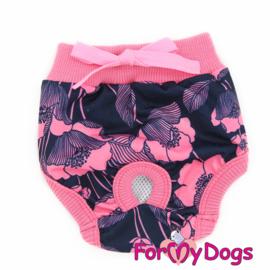ForMyDogs loopsheidsbroekje - Poppies