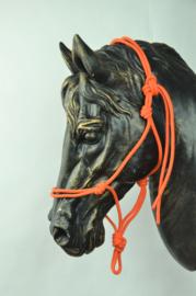 Touwhalster basic - pony - oranje