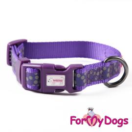 ForMyDogs halsband- paars retroreflectief