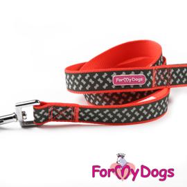 ForMyDogs hondenlijn Active dogs - rood retroreflectief
