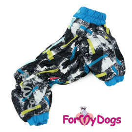 "ForMyDogs - Warm Overall, Male, Black & Blue ""paint"""