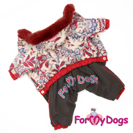 "ForMyDogs - Warm Overall, Female, Beige & Brown ""flower"""