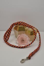 Hondenlijn, 12mm PPM, Oranje / Donkerblauw