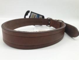 Croci - Ledere halsband Wild West Bruin