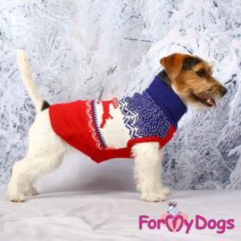ForMyDogs - gebreide trui kerst - rendier