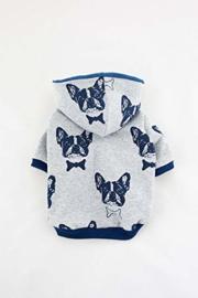 Bulltastic Grijs/Blauw hoodie L