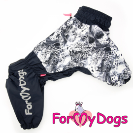 "ForMyDogs - Pugs Regenjas ""panter"" grijs, Male"