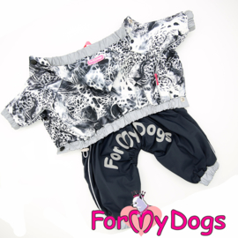 "ForMyDogs - Raincoat ""Leo"", Grijs, Male"