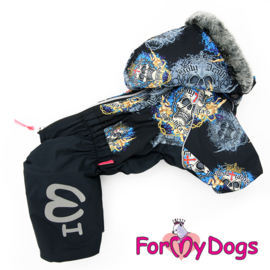 "ForMyDogs - Warm Overall, Male, black ""Doodshoofden"""