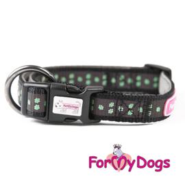 ForMyDogs halsband- zwart retroreflectief