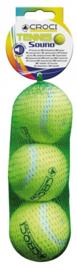 Croci - Tennisballen 3st met geluid