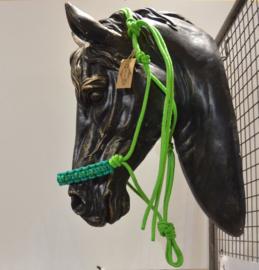 Touwhalster paracord Cobra neusband - Cob - Neon groen/groen