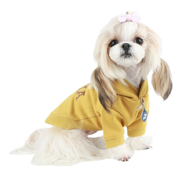 "Puppia t-shirt ""U-pup"" Mosterd Geel"