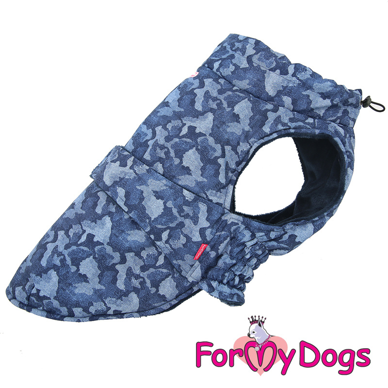 ForMyDogs - Frenchie/pugs Caparison camouflage blauw