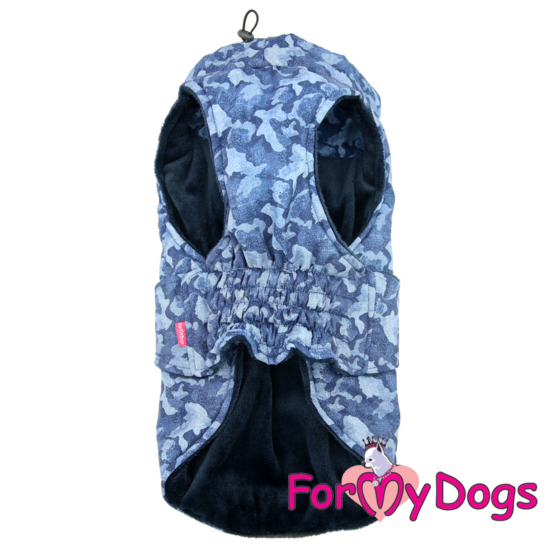 ForMyDogs - Caparison camouflage blauw