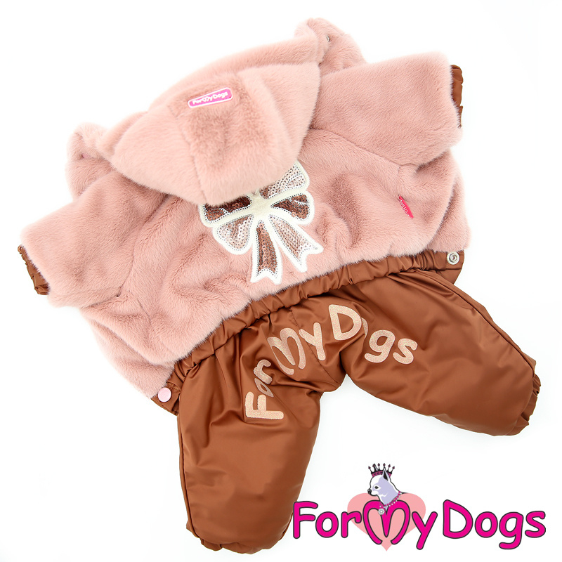 "ForMyDogs - Warm Overall, Female, Poederroze ""Strik"""