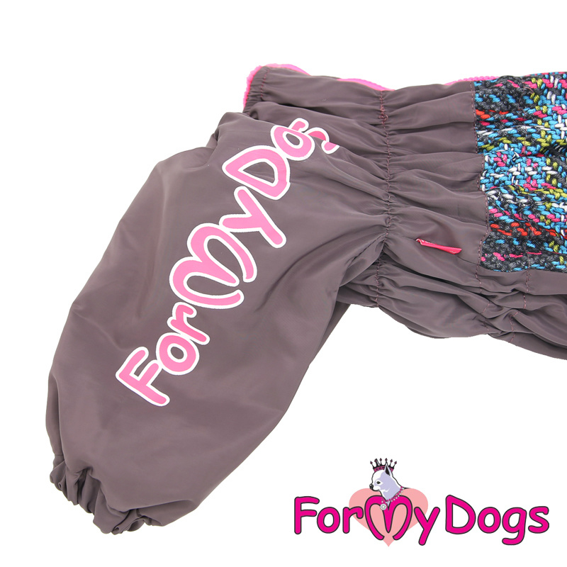 ForMyDogs - Frenchie/pugs warm overal roze - female