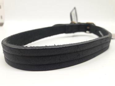 Croci - Ledere halsband Wild West Zwart