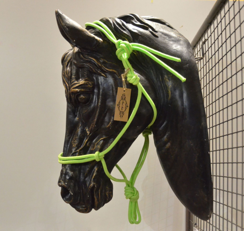 Touwhalster basic - Cob- Neon groen