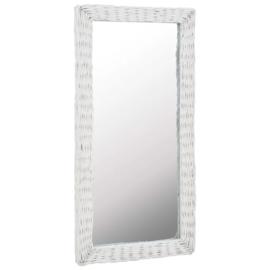 Spiegel Riet Wit 50x100 cm