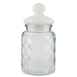 3 x Voorraadpot glas klein