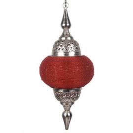 Hanglamp arabisch zilver rood 33X73 cm